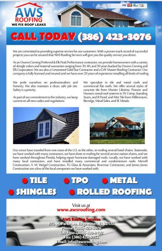 AWS Roofing Services